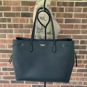 Like new Kate Spade black leather large tote bag
